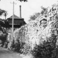 Čižmárska bašta (rok 1925). V pozadí vidno komín, z ktorého sa zachovala už iba časť (dvorný trakt domu na Hornej ulici č. 16)