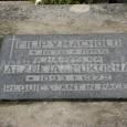 stav náhrobného kameňa po vyčistení - júl 2012
