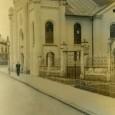 synagóga v Parkovej ulici, v pozadí vidno bývalý dom pionierov (okolo roku 1940)