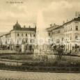 fontána na Hlavnom námestí okolo roku 1910