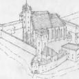 Rekonštrukcia pravdepodobného vzhľadu hradného areálu na konci XVI. storočia.