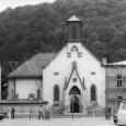 kostol Sv. Alžbety na fotografii z roku 1980