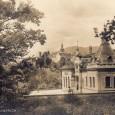 pohľad na budovu kúpeľov od železničnej trate (rok 1922)
