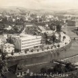 rok 1933 - sokolská plaváreň pri pohľade z Urpína (vľavo dole)