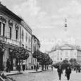 sídlo Banskobystrickej obchodnej banky na Hornej ulici č. 5 (budova vľavo, ktorá bola neskôr asanovaná kvôli výstavbe hlavnej pošty)