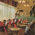interiér samoobslužnej jedálne Srdiečko na Partizánskej ceste č. 2 (dnes je v týchto priestoroch predajňa potravín Moja SAMOŠKA)