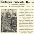 """náhrobok Kamilia Cotteliho bol vyobrazený aj v reklamnej tlači kamenárstva """"Horn"""""""