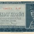 bankovka z roku 1948 (lícová strana)