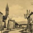 koniec Dolnej ulice s kostolom Sv. Alžbety (okolo roku 1910)