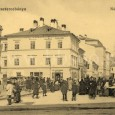 trh na Hornom námestí okolo roku 1910 (v budove na zábere v strede dnes sídli poisťovňa Kooperatíva)
