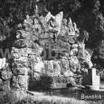 kamenná fontána v mestskom parku 1926
