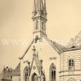 kostol Sv. Alžbety na kresbe z roku 1878