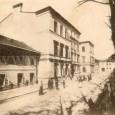 budova Rim. kat. gymnázia na Hornom námestí (dnes Námestie Š. Moyzesa) z roku 1858