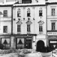 """budova hotela v roku 1956, v tom čase už bol prevádzkovaný pod národnou správou podniku """"Slovenské hotely so sídlom v Bratislave"""""""