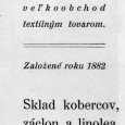 dobová reklama - Ignác Keme - obchod s textilom