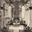 interiér farského kostola (okolo roku 1905)
