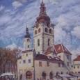 Banská Bystrica - Horné námestie s barbakanom, autor: Václav Malý