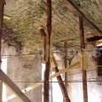 zabezpečenie 2. nadzemného podlažia drevenými podperami