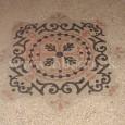detail terazzovej podlahy na podeste (Námestie SNP č. 13)