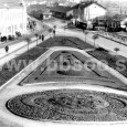 1956 - pohľad z budovy polikliniky (v pozadí vidno budovu pôvodnej železničnej stanice)