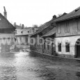 pohľad z Dolného námestia smerom k ulici Na Troskách