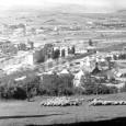 1956 - pohľad na mesto od kalvárie (v strede záberu vidno bytové domy na Hronskom predmestí)