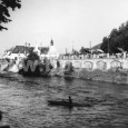 parné a vaňové kúpele a záhradná reštaurácia pri železničnej stanici Banská Bystrica - mesto  (rok 1955)