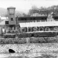 bývalá plaváreň pod Urpínom, zlikvidovaná pri regulácii koryta Hrona (rok 1954)