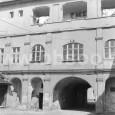 dvor domu v Lazovnej ulici č. 11 vedľa štátnej vedeckej knižnice (rok 1985)