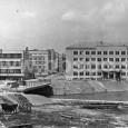 nový most cez Hron pri bývalej Okresnej vojenskej správe (rok 1959)