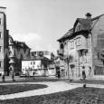 kamenná vila pri poliklinike, ešte bez okolitej zástavby (rok 1957)