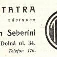 dobová reklama - predaj automobilov značky TATRA