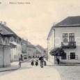 Radvanská ulica okolo roku 1910 (pohľad z Dolného námestie smerom na Radvaň)