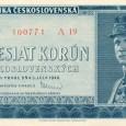 50 korunová bankovka z roku 1948 s portrétom gen. M. R. Štefánika