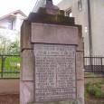 busta gen. M. R. Štefánika na pomníku padlým obetiam I. svetovej vojny v mestskej časti Rudlová