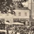 pohľad na dom č. 8 na bývalom Hornom námestí (na jeho mieste dnes stojí budova Slovenskej sporiteľne od architekta E. Belluša)