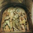"""jediný zachovaný reliéf zo začiatku 20. storočia s motívom """"Ježiš odsúdený na smrť"""" sa zachoval práve na 1. zastavení"""