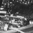 letecký pohľad na dnes už neexistujúcu zástavbu (rok 1927)
