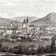 na zábere z roku 1857 vidno už do značnej miery poškodené mestské opevnenie s Hronskou bránou, Zlatnícku baštu medzi hodinovou vežou a vežou barbakanu a Mühlsteinovu baštu napravo od farského kostola. Na Kapitulskom kostole vidno pôvodnú podobu veží.