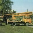 vozidlo Avia 31 (MP-13) s mobilnou plošinou