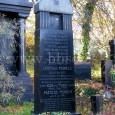 náhrobný kameň manželov Munelsovcov na židovskom cintoríne, na Rudlovskej ceste