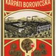 etiketa z liehovaru s vyobrazením závodu spred roku 1918