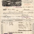faktúra z liehovaru z roku 1919, kedy bol ešte vo vlastníctve Jozefa Löwyho