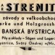 """reklama firmy """"Bratia Strenitzer"""" z obdobia vojnového Slovenského štátu"""