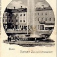 rok 1897 - novovybudovaná fontána na Hlavnom námestí