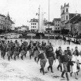 účastníci sokolského zletu na Hlavnom námestí v roku 1936