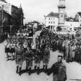 účastníci sokolského zletu na Hlavnom námestí v roku 1938