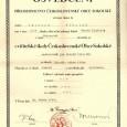 osvedčenie o absolvovaní cvičiteľskej školy Československej obce sokolskej