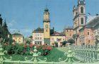 Banská Bystrica na farebných pohľadniciach veľkého formátu