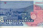 Motív Banskej Bystrice na lósoch Československej štátnej lotérie